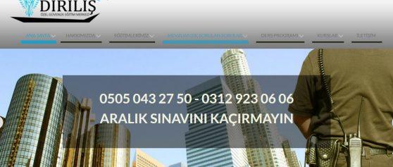 Diriliş Özel Güvenlik Eğitim Merkezi kurumsal kimlik ve web sitesi projeleri bize emanet…