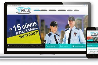 Diriliş Özel Güvenlik Web Sitesi